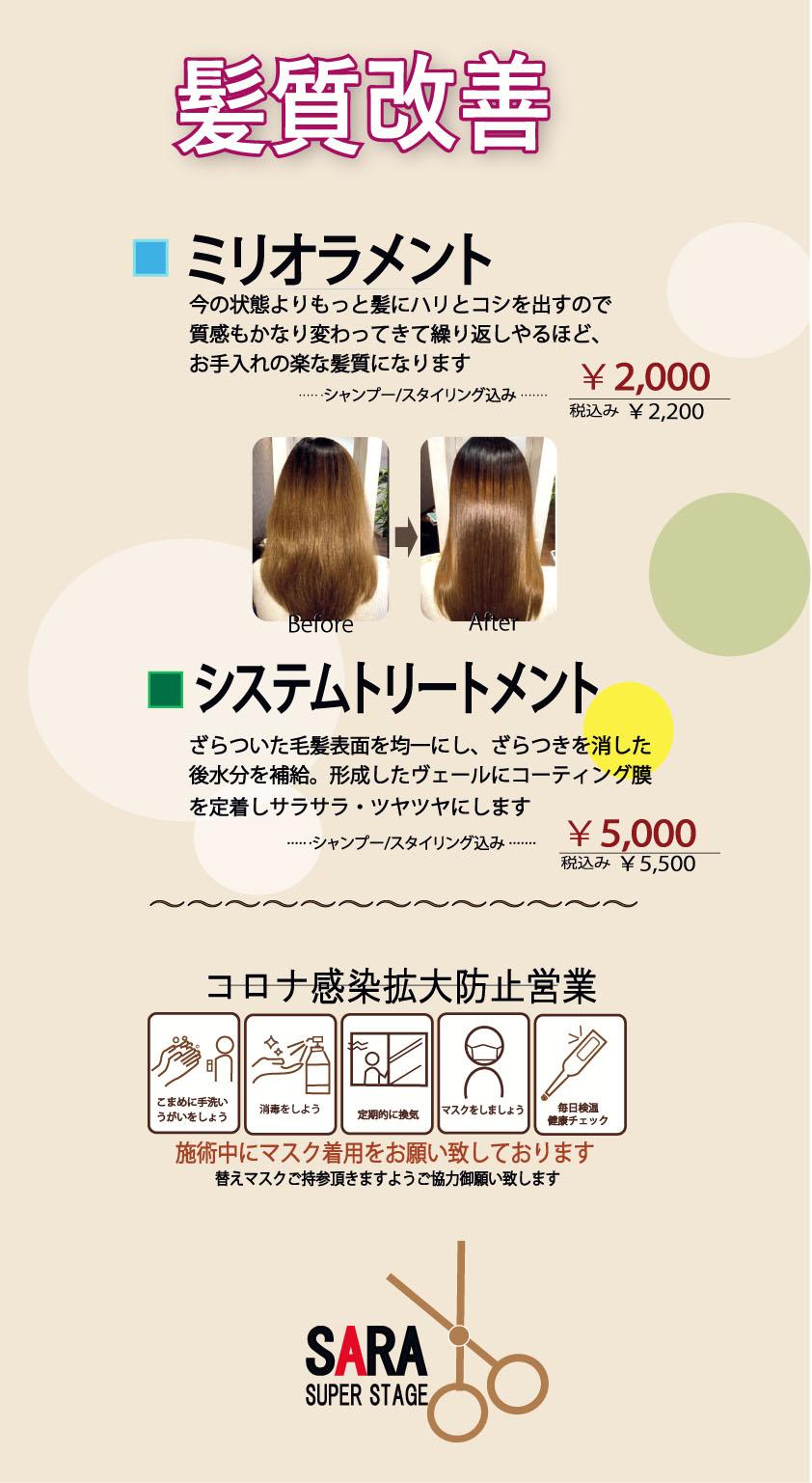 ワークフラッシュ5髪質